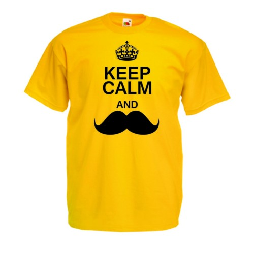 Keep calm mustache - Movember
